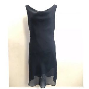 Onyx Nite Cocktail Party Dress Draped Neck V Back